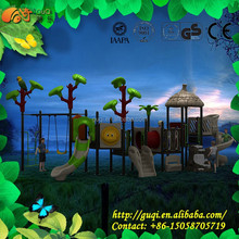 Updated Guqi Tree house series outdoor plastic slide/play ground outside/new style and design of children playground GQ-012-A
