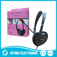 Wholesale stereo wired computer headset ,cheap computer headphone.