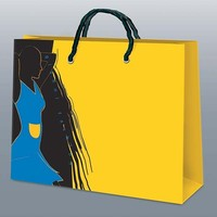 custom retail paper clothes packing bag