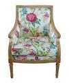 marco de madera tela de tapicería sofá silla mobiliariodesala país plazas individuales de tela de ocio sofá brazo silla