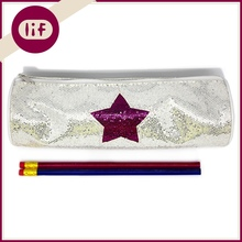 Chic Round Profile Glitter Pencil bag, With Star Glitter Pencil Bag, Shinning Pencil Bag