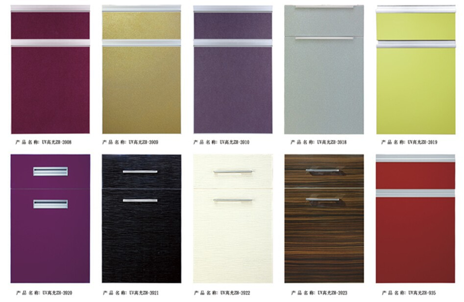 High Gloss Arcylic Mdf Board Glazed Kitchen Cabinet Doors
