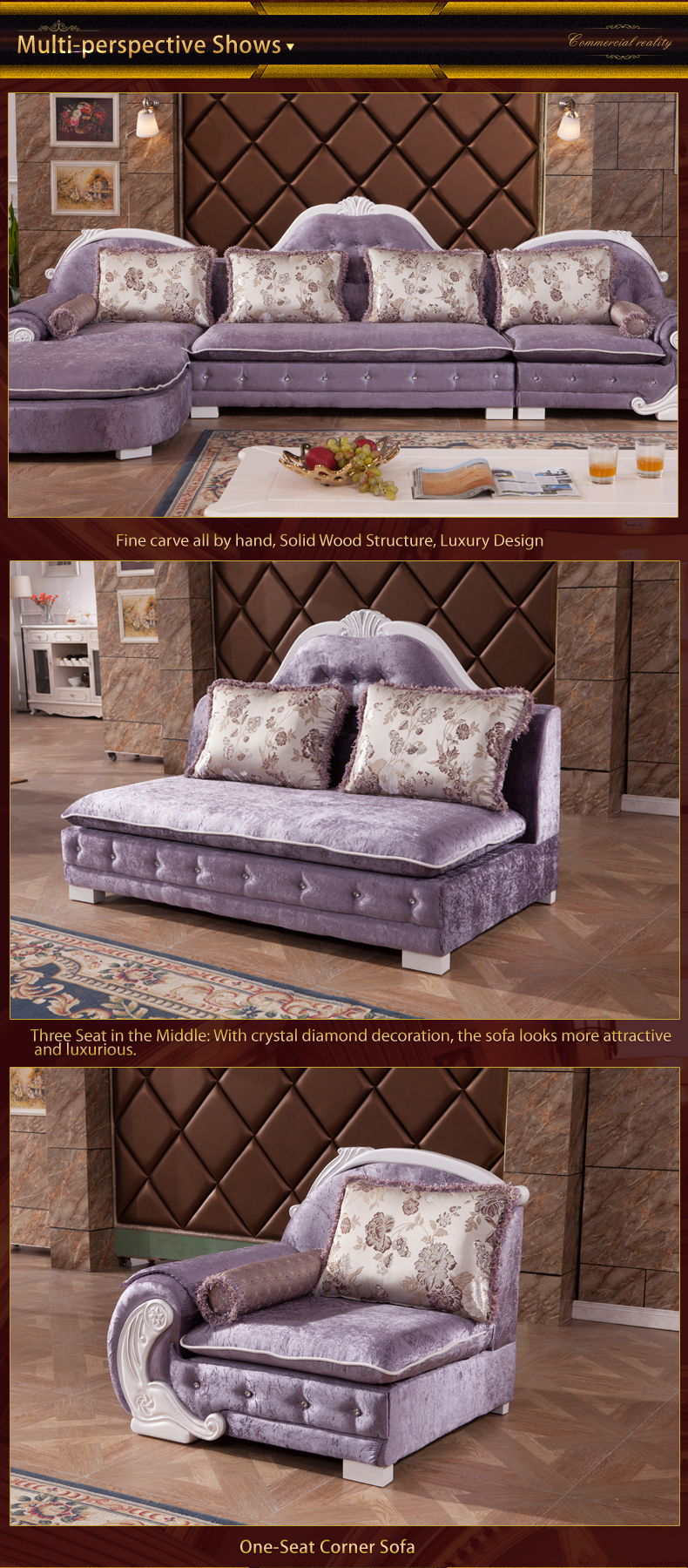 2015 new model luxury modern elegant leather fabric living for New model living room furniture