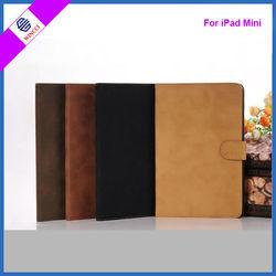 Fashional Retro PU leahter cover, leather book case for ipad mini