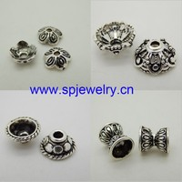 silver end caps for jewelry making, wholesale silver jewelry findings