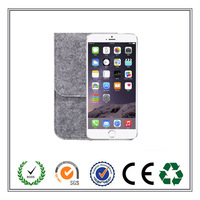 Customized Felt Mobile Phone Case With Hidden Snap Button