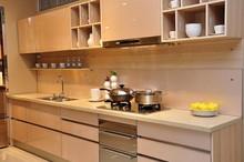 modern kitchen cabinet with metal kitchen sink