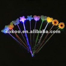 LED braid flashing hairpiece