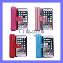 Univeral Two Mobile Phone Cases Detachable Removal Leather Phone Case for iPhone 6S 6