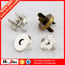 hi-ana button3 Advanced equipment Factory supplier magnetic button for bag