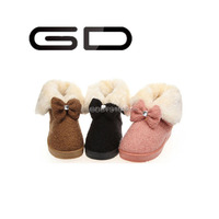 GD ourdoor custom sizes low price beautiful winter snow lady boots