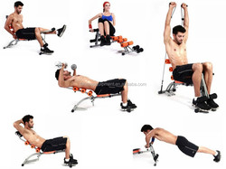 Indoor body building multifunction ab fitness equipment