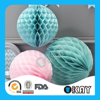 Party Decorations Handmade Paper Honeycomb Core Balls