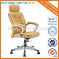 Gs-g1370 moderno diseño de apoyo para la cabeza de color marrón de cuero silla