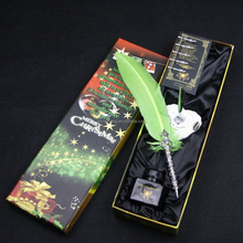 Luxury Feather Writing Quill Pen Set