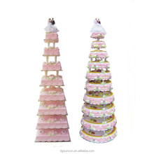 High Quality Round Crystal Clear Circle 8 Tiers Acrylic Transparent Cake Decorating Tools