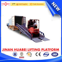 China best selling mobile yard ramp, heavy duty loading ramp