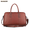BANUCE Business Briefcase Large Capacity Cowhides Leather Mens Shoulder Bags Travel Messenger Bags