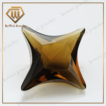 Decorative glass gems the four corners of a star brown glass stone