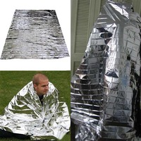 Newest Hot Sale Silver Emergency Mylar Rescue Space Thermal Blankets Portable Waterproof Outdoor Life-saving Curtain
