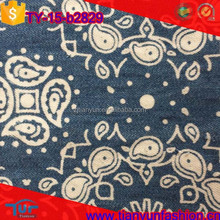 2015 latest pasiley printing woven dresses twill pattern 100 cotton denim fabric