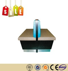 Restaurant furniture grey double booth wooden frame with gun for sale