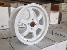 15inch alloy wheel aluminium 4X100 4 stud , JETTA, FIT, YARIS car wheel