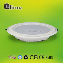 CE/ROHS cerfified 18w led panel lights ceiling down light ,cut size 180mm ,80lm/w, ra80,AL+Glass, 5 years warranty