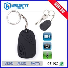 2015 besnt cheapest 808 car key chain mini camera 8gb tf card wireless portable mini dv BS-736