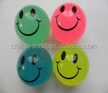 Assorted smile bouncing balls