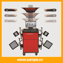 SAMPE9000A 2015 CE&ISO Vehicle Equipment 3D Wheel Alignment Price with LCD Screen Equipment Price for Garage(Automatic Lifting)