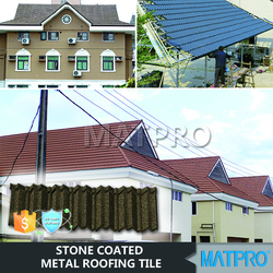 malaysia red rolled colorful stone coated metal roofing
