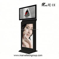 Stand alone indoor wireless wifi loop video advertising display