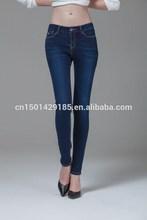 nwe 2015 verano pantalones vaqueros slim lápiz pies oscuro stretch jeans stretch