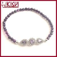 Bracelet promotion semi precious stone jewelry, natural stone bracelet jewerly