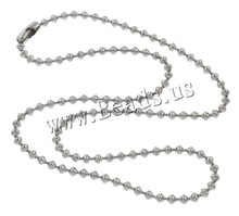 2015 new model stainless steel ball chain necklace