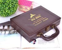 alibaba website china box factory leather attache case