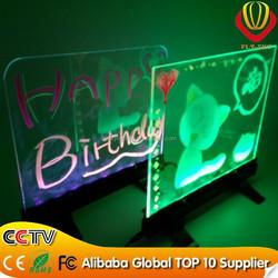 shops advertising NEW LED item desktop led writing board super brightness & catching eyes