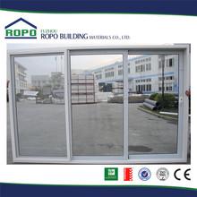 Clear glass three panels China made balcony sliding glass door