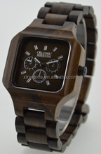 2015 HOT SALE full wood watches wholesale wood.Charming nature wood watch men.Japan movement classic watch