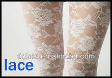 sexy medias transparentes leggings de encaje para las mujeres pantalones apretados para las niñas