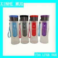 Flat Top 750ml Tritan Water Bottle with Infuser
