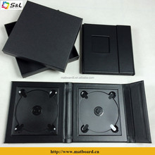 wedding decoration CD album gift use elegant DVD box wholesale leather CD folios single CD case