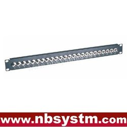 "24 port BNC Patch Panel 19"" 1U,Female to Female"