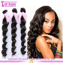 Qingdao factory supply top grade 100% remy hair wholesale cheap 100 percent indian remy human hair