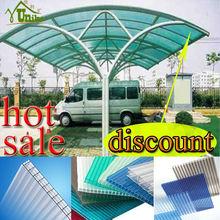 Chapas de policarbonato para techos de garage