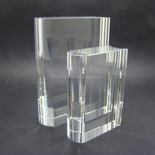 High quality crystal book trophy for school prize