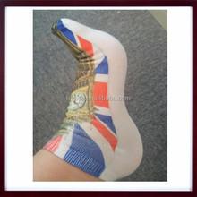 Custom Digital Print Socks Ankle Sock, Low-Cut Ankle Women's Sublimated Printed Socks, 3D All Over Print Sock