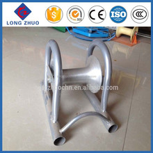 Cable Ground Roller/Pulley Block with Steel Pipe Support/Straight Line Type Cable Pulley