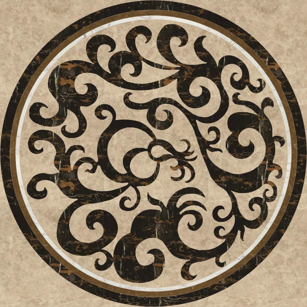 Marble Floor Inlay Cutting : Spain pinoso crema marfil marble polished flooring